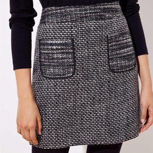New LOFT Women's Black Tweed Pocket Mini Skirt